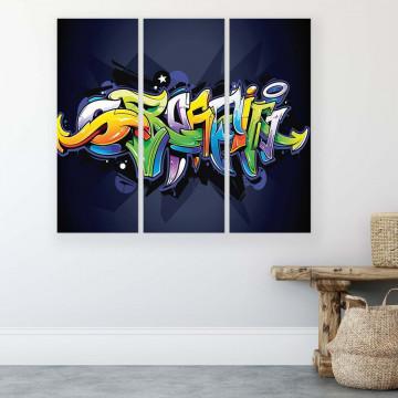 Graffiti Canvas Photo Print