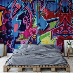 Graffiti Street Art Urban Grunge Photo Wallpaper Wall Mural
