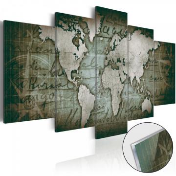 Imagine pe sticlă acrilică - Acrylic prints – Bronze map III