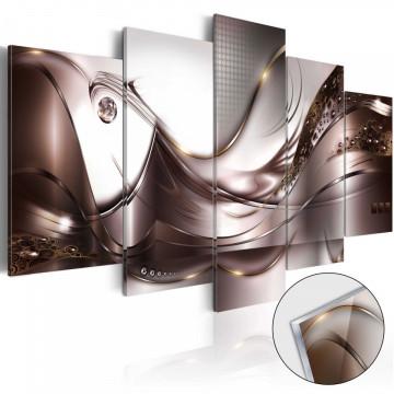 Imagine pe sticlă acrilică - Golden Storm [Glass]