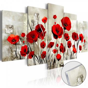 Imagine pe sticlă acrilică - Scarlet Field [Glass]
