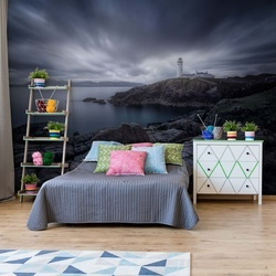 Lighthouse In Blue Photo Wallpaper Mural