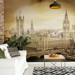 London Vintage Sepia Photo Wallpaper Wall Mural