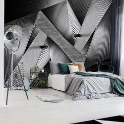 Metal Origami Photo Wallpaper Mural