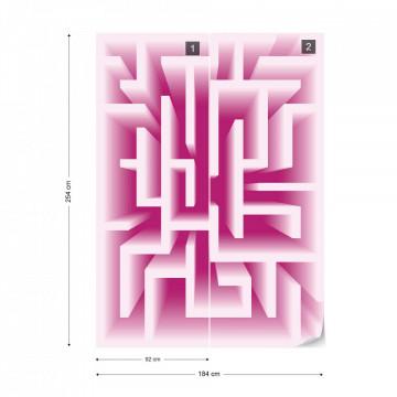Modern 3D Maze Design Photo Wallpaper Wall Mural