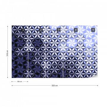 Modern 3D Purple Pattern Photo Wallpaper Wall Mural