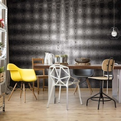 Modern Black And White Abstract Design Photo Wallpaper Wall Mural