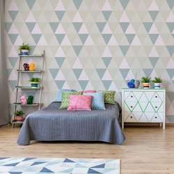 Modern Geometric Triangle Pattern Photo Wallpaper Wall Mural