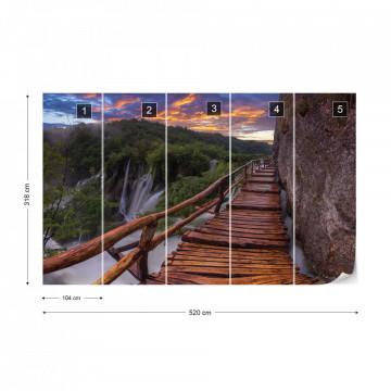 Mountain Walkway Photo Wallpaper Wall Mural