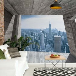 New York City Skyline 3D Concrete Modern Architecture View Photo Wallpaper Wall Mural