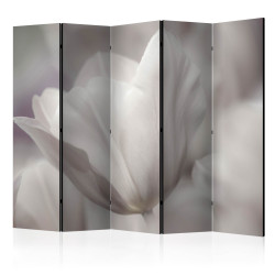 Paravan - Tulip - black and white photo II [Room Dividers]