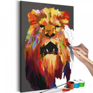 Pictatul pentru recreere - Colourful Lion (Large)