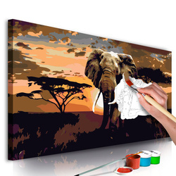 Pictatul pentru recreere - Elephant in Africa (Brown Colours)