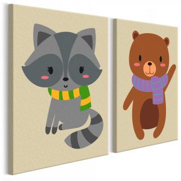 Pictatul pentru recreere - Raccoon & Bear