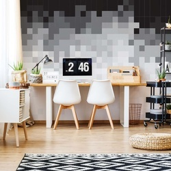 Pixel Pattern Black And White Photo Wallpaper Wall Mural