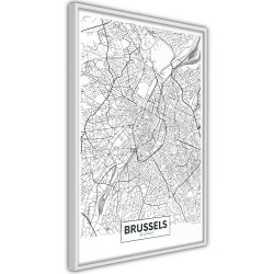 Poster - City map: Brussels