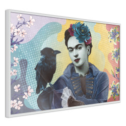 Poster - Frida with a Raven