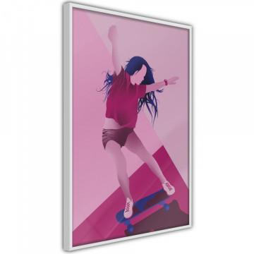 Poster - Girl on a Skateboard