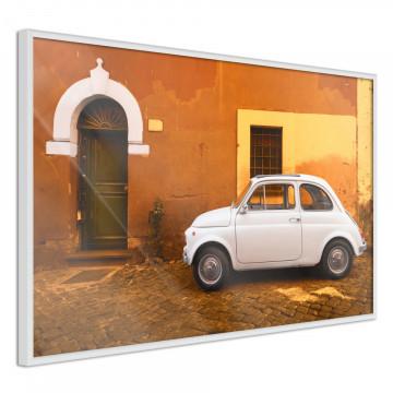 Poster - White Car