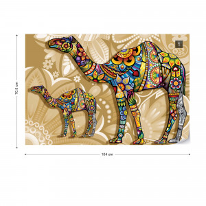 Pyschedelic Camels Photo Wallpaper Wall Mural