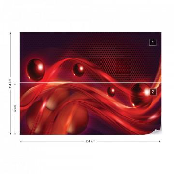 Red Modern Abstract Design Photo Wallpaper Wall Mural