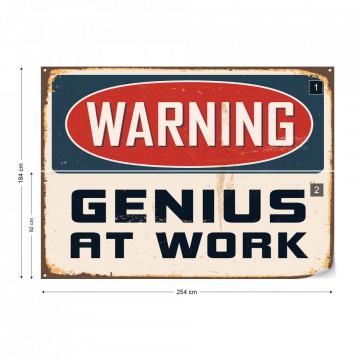 "Retro Sign ""Genius"" Photo Wallpaper Wall Mural"