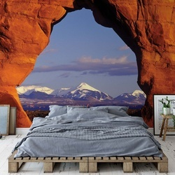 Rock View Mountains Nature Photo Wallpaper Wall Mural