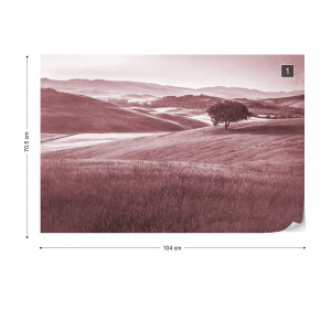 Rolling Hills Faded Vintage in Red