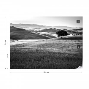 Rolling Hills in Black & White