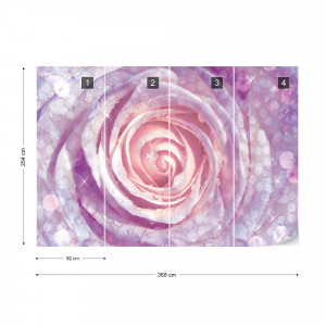 Rose Purple And Pink Photo Wallpaper Wall Mural