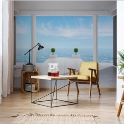 Sea And Sky 3D Penthouse View Photo Wallpaper Wall Mural