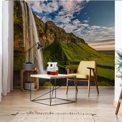 Seljalandsfoss Waterfalls Photo Wallpaper Mural