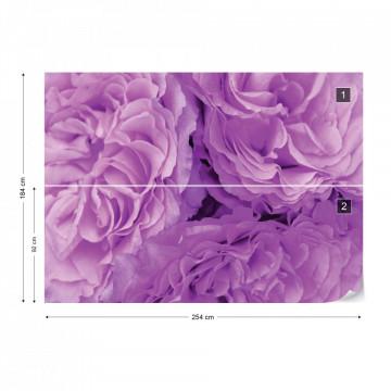 Soft Purple Flowers Photo Wallpaper Wall Mural