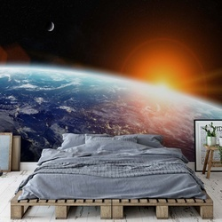 Sunrise Over Planet Earth Photo Wallpaper Wall Mural