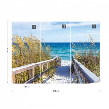 Sylt White Sand Beach Path Coastal Photo Wallpaper Wall Mural