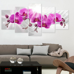 Tablou - Abstract Garden: Pink Orchids