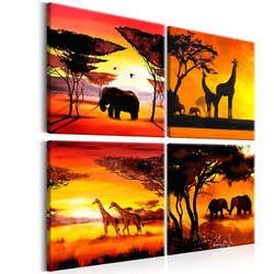 Tablou - African Animals (4 Parts)