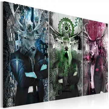 Tablou - Animal Trio (3 Parts) Colorful