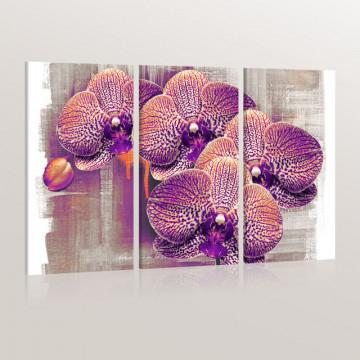 Tablou - artistic  flower - Triptych