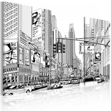 Tablou - Black & white comic style