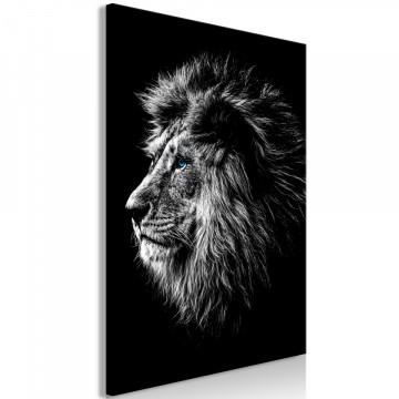 Tablou - Blue-eyed Lion (1 Part) Vertical