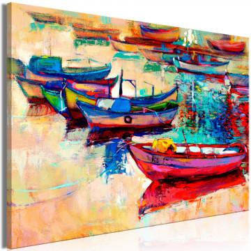 Tablou - Boats (1 Part) Wide