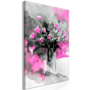 Tablou - Bouquet of Colours (1 Part) Vertical Pink