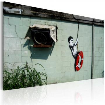 Tablou - Boy on a swing (Banksy)