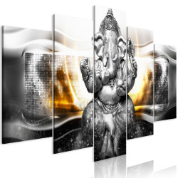 Tablou - Buddha Style (5 Parts) Silver Wide