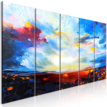 Tablou - Colourful Sky (5 Parts) Narrow