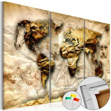 Tablou din plută - Anatomy of the World [Cork Map]