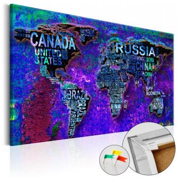 Tablou din plută - Intriguing World [Cork Map]