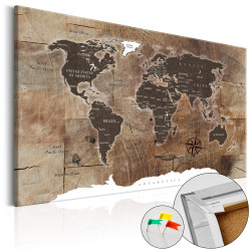 Tablou din plută - Wooden Mosaic [Cork Map]