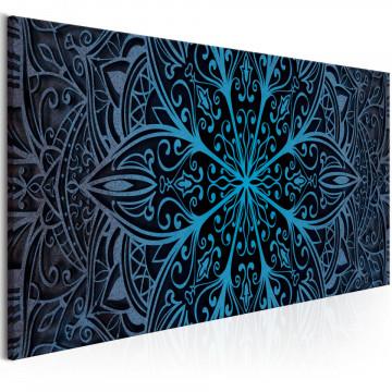 Tablou - Feathers (1 Part) Blue Narrow